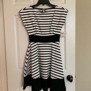 Kate Spade PONTE STRIPE FIORELLA DRESS.  Xs
